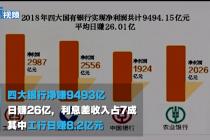 年报发布丨四大银行净赚9493亿:日均赚26亿,工行日赚8亿
