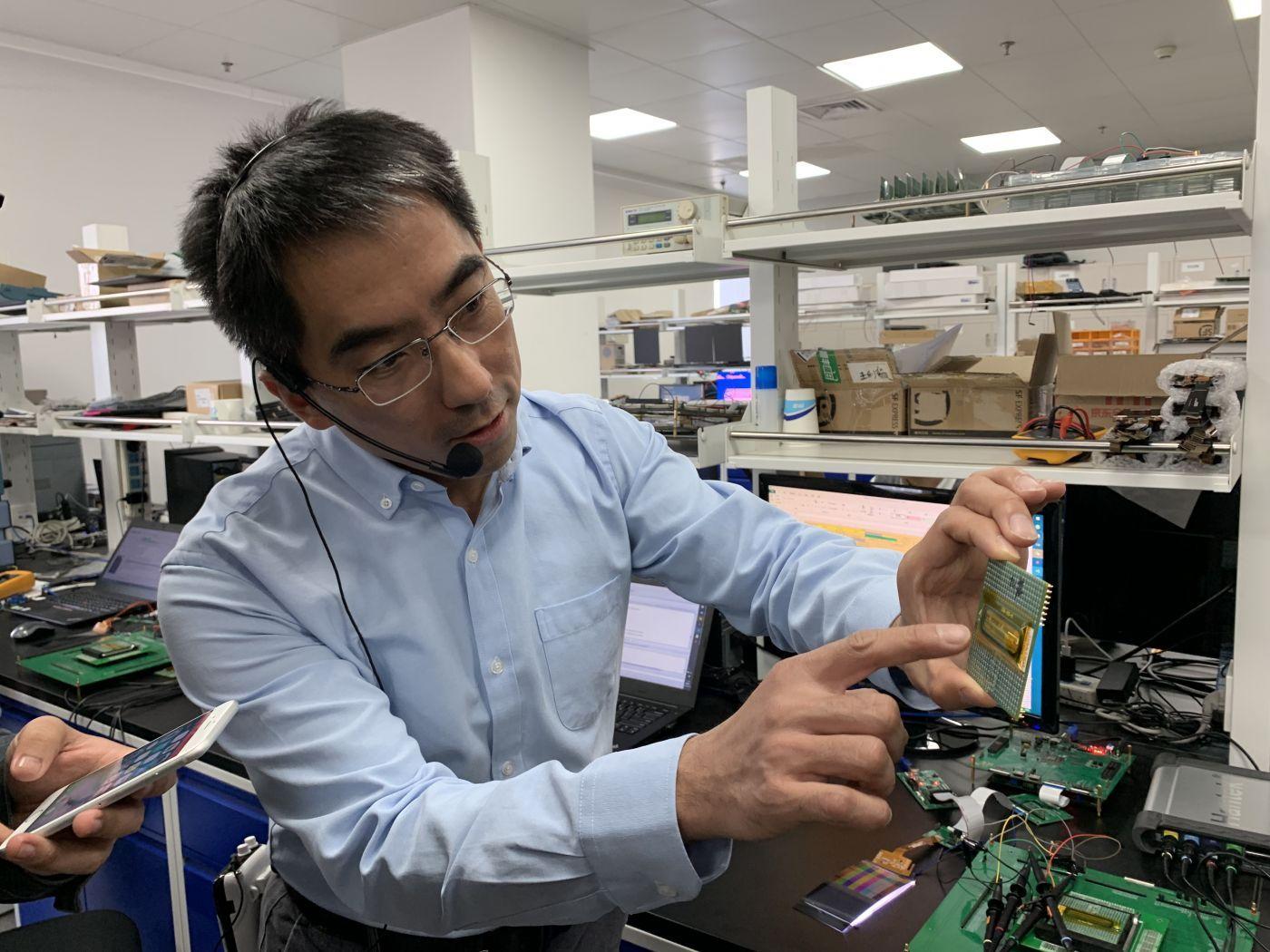 集创北方研发副总裁耿俊成介绍测试芯片