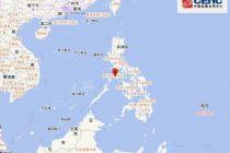 菲律宾民都洛岛海域5.5级地震 震源深度10千米