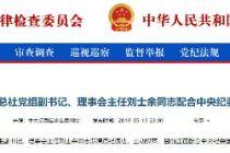 刘士余涉嫌违纪违法主动投案 配合中央纪委国家监委审查调查