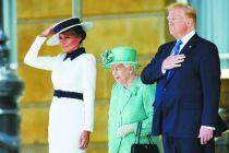 特朗普访英 英女王白金汉宫为其举办接待仪式