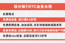 銀行、支付機構狂推ETC 哪家更便捷