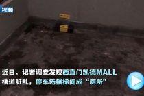 """北京西直门凯德MALL楼道脏乱 泊车场楼梯间成""""茅厕"""""""
