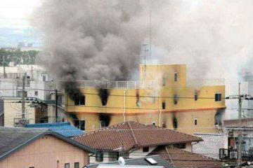 日本京都动画工作室发生大火 约40人受伤