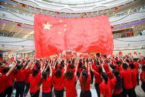 全国295座万达广场同唱《我和我的祖国》