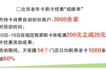 北京3000余家商超餐饮店实现刷养老卡享折扣