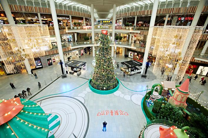 荟聚中心一楼主中庭活动区域