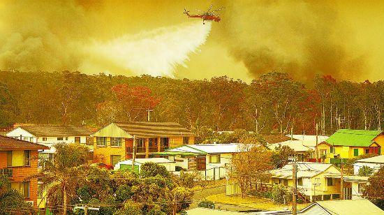 """山火未熄 澳大利亚""""顶风""""举办烟花表演"""