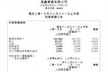 高鑫零售2019年净利润28亿  O2O营业总出售营收同比增加90%