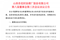 提升數字化進程  山西汾酒擬對竹葉青公司增資6億