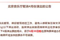 北京音乐厅取消4月演出活动