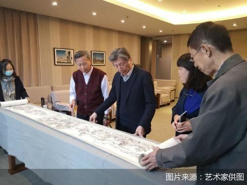 贺良朴《江山秋霁图》首次亮相中国美术馆 创作于1923年