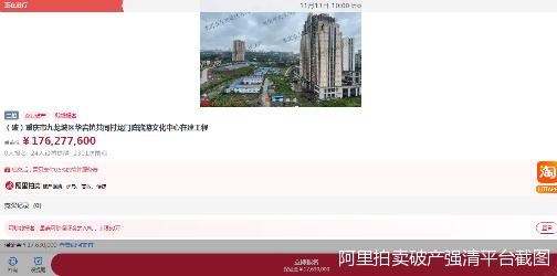 淘宝网阿里拍卖破产强清平台截图