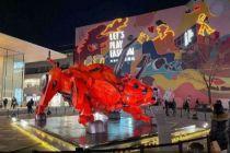 在京过年·新消费图景|商场齐换装:许愿盒、机械牛、祈福灯笼 不远游就去商场!