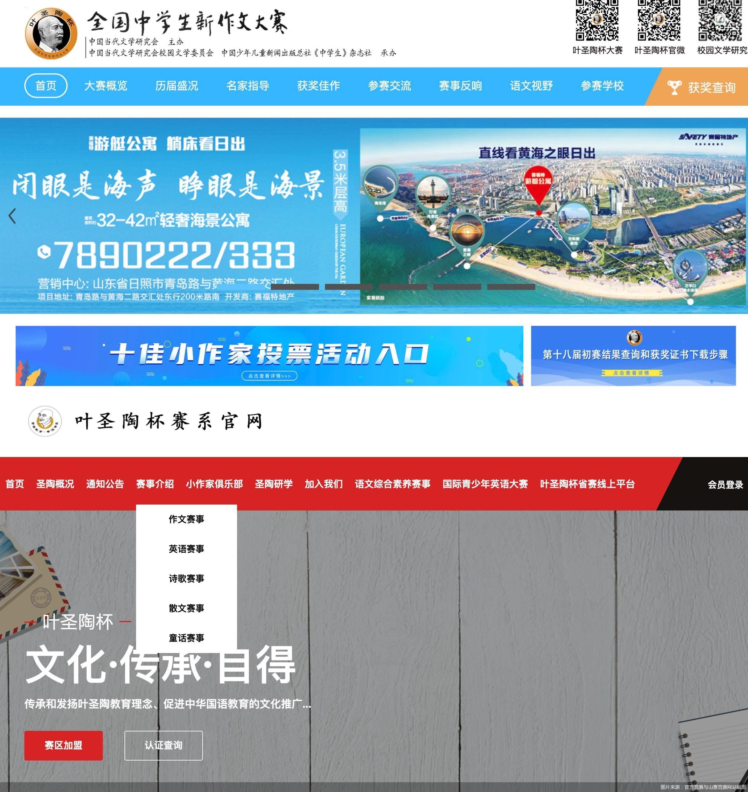 图片来源:官方竞赛与山寨竞赛网站截图