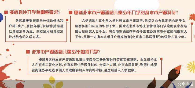 北京义务教育入学进一步加大多校划片力度 强化免试就近的要求