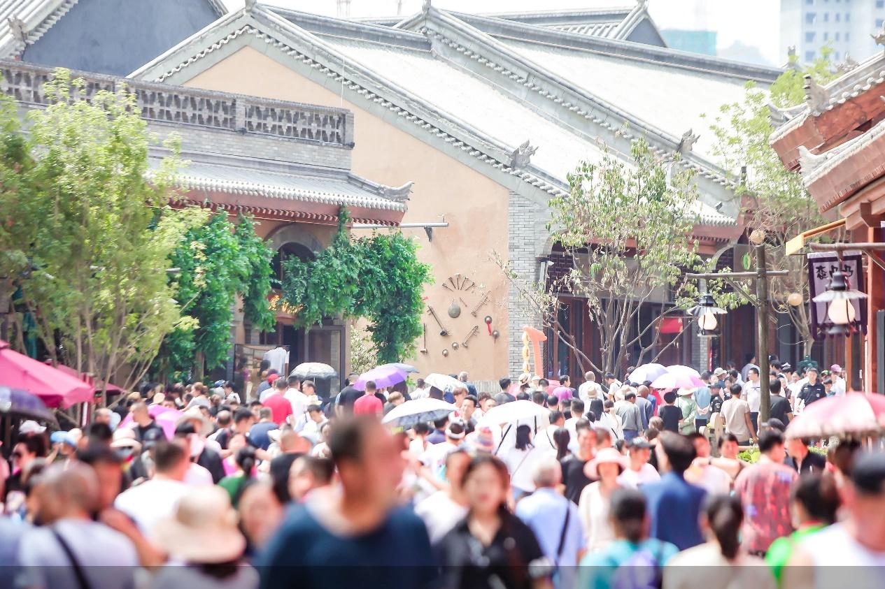 延安红街开业满一个月 累计接待游客超过200万人次
